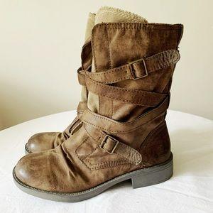 Roxy Vegan Leather Combat/Moto Boots